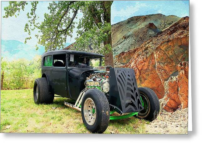 Classic Rod Greeting Card by Liane Wright