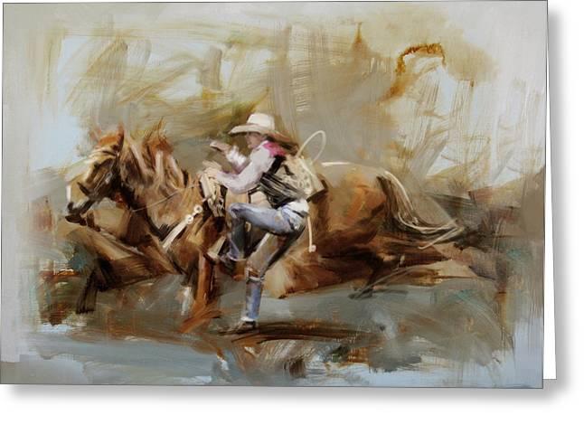 Classic Rodeo 5b Greeting Card by Maryam Mughal
