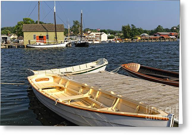 Classic Row Boats Greeting Card by George Oze