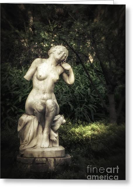 Classic Statue Greeting Card by Carlos Caetano
