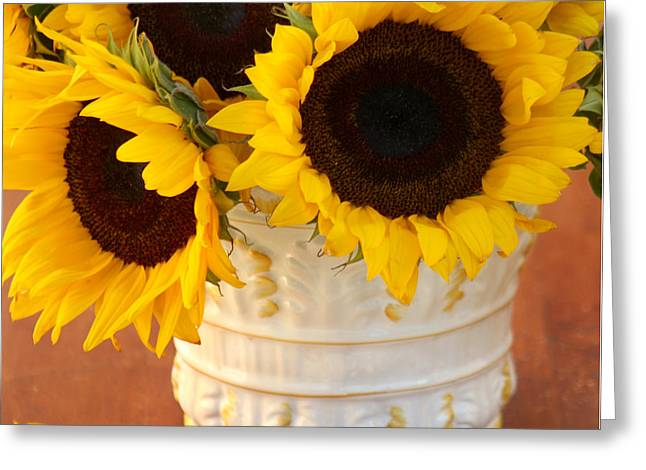 Classic Sunflowers Greeting Card by Art Block Collections