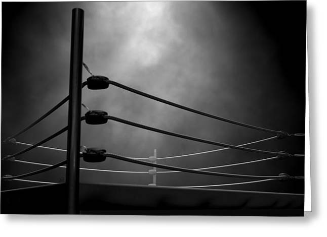 Classic Vintage Boxing Ring Greeting Card