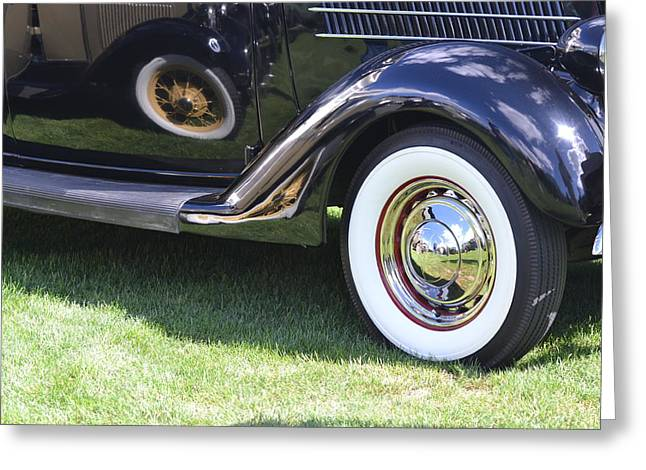 Classic Wheels Greeting Card by Bill Mock