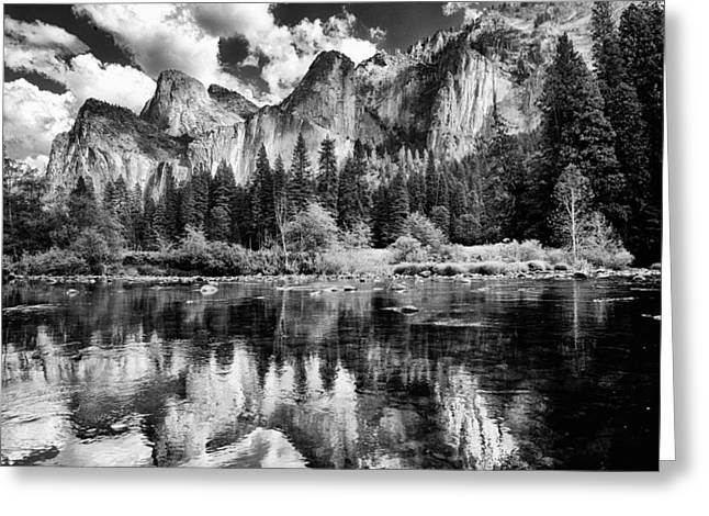 Classic Yosemite Greeting Card by Cat Connor