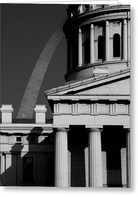 Classical Courthouse Arch Black White Greeting Card