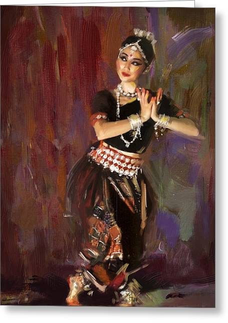 Classical Dance Art 2 Greeting Card by Maryam Mughal