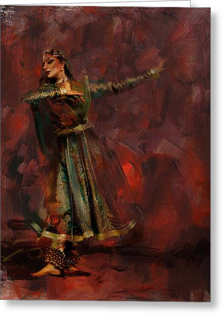 Classical Dance Art 7 Greeting Card by Maryam Mughal
