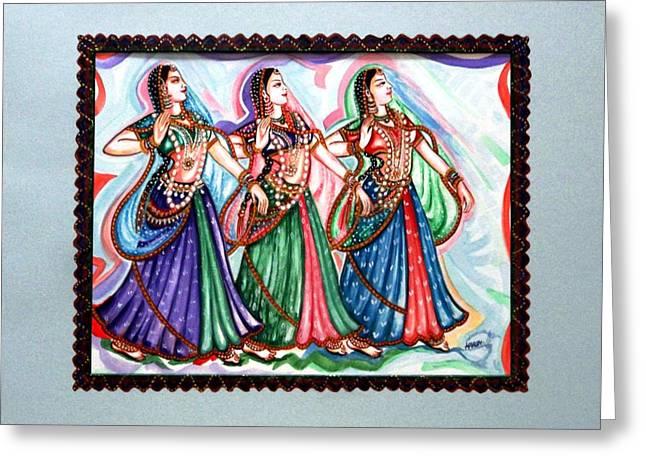 Classical Dance1 Greeting Card by Harsh Malik
