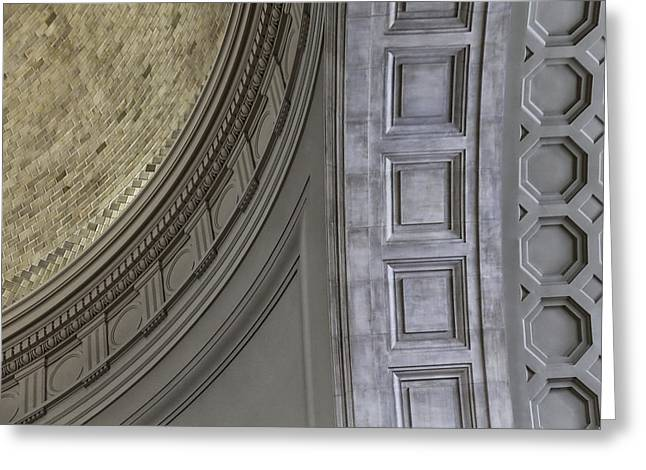 Classical Dome And Vault Details Greeting Card by Lynn Palmer