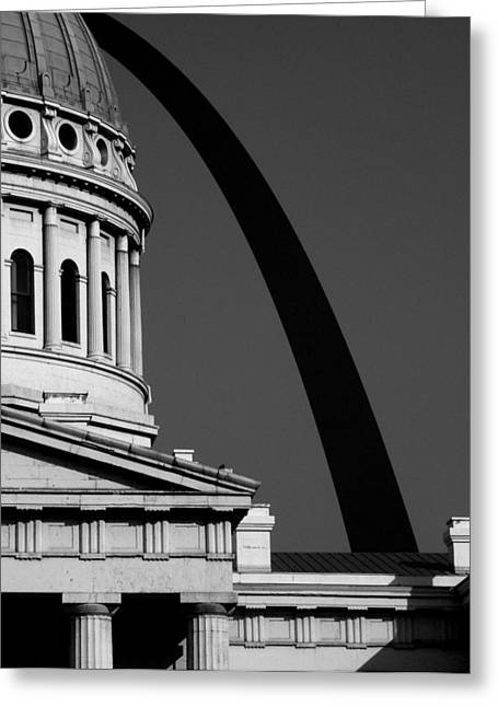 Classical Dome Arch Silhouette Black White Greeting Card