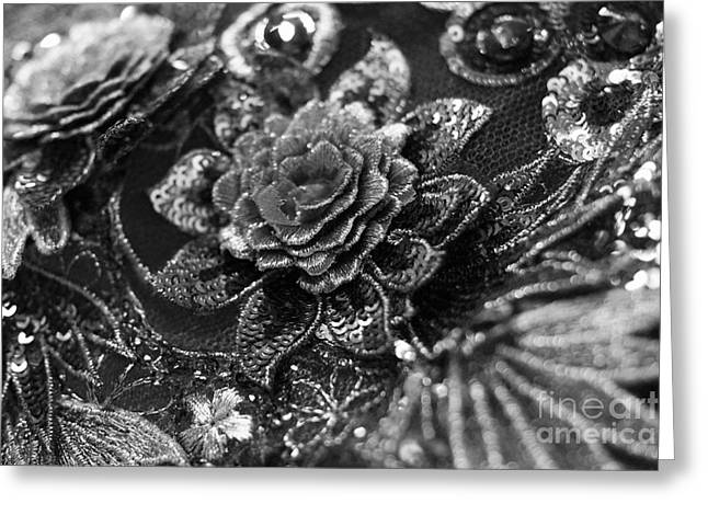 Classically Costumed Xvii Monochrome Greeting Card by Cassandra Buckley