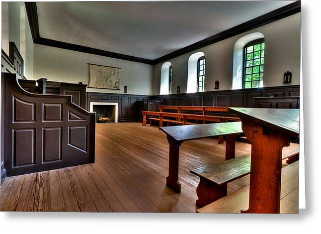 Greeting Card featuring the photograph Classroom Wren Building by Jerry Gammon