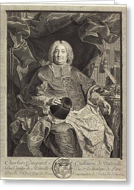 Claude Drevet After Hyacinthe Rigaud French Greeting Card
