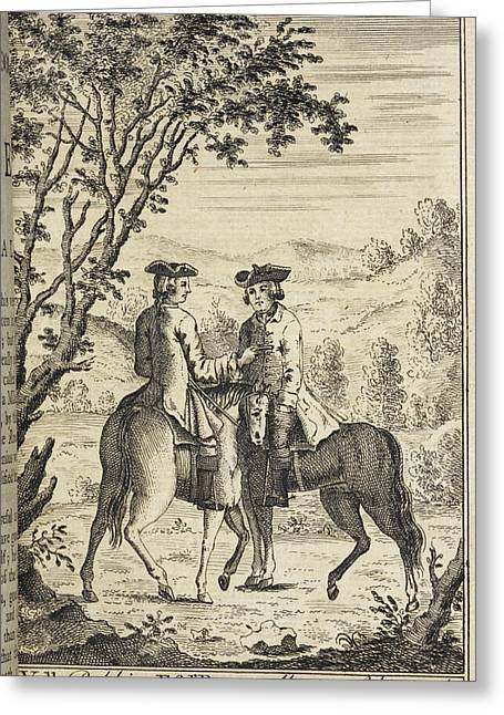 Claude Duval Robbing A Mr Roper Greeting Card by British Library