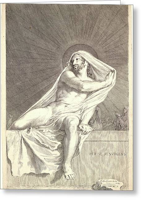Claude Mellan French, 1598 - 1688. The Resurrection Greeting Card