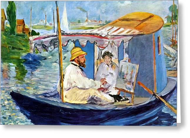 Claude Monet In Argenteuil Greeting Card