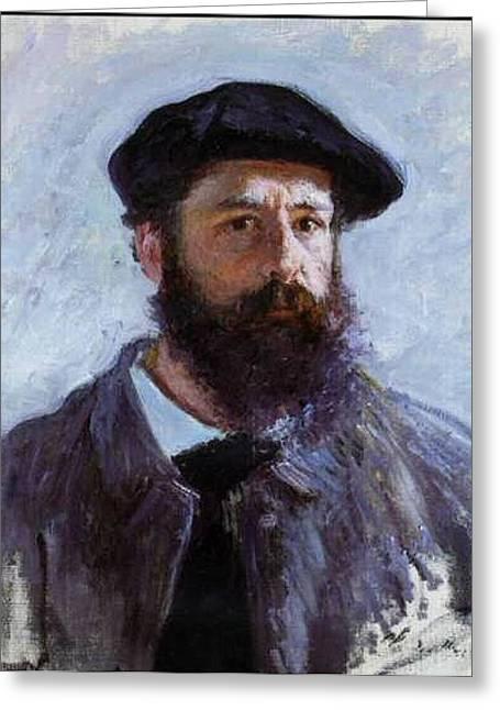 Claude Monet Self Portrait Greeting Card by Claude Monet - L Brown