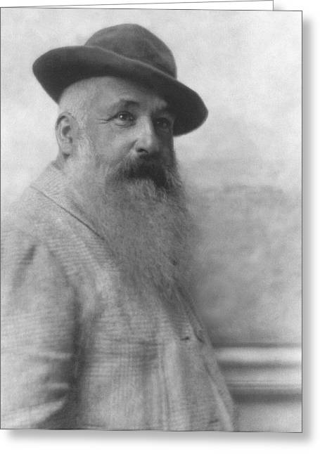 Claude Monet Wearing A Hat Greeting Card by Baron Adolphe De Meyer