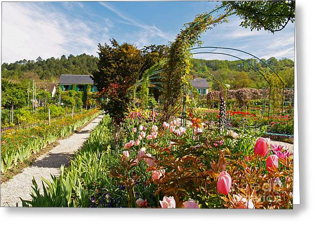Claude Monet's Garden In Giverny Greeting Card