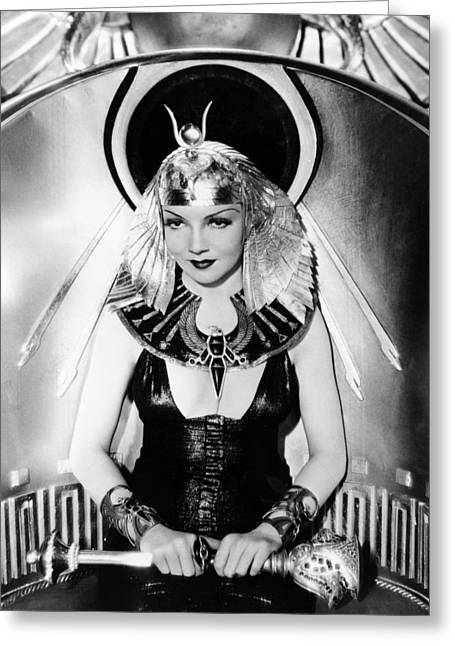 Claudette Colbert In Cleopatra  Greeting Card