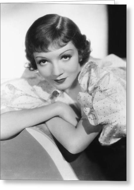 Claudette Colbert Greeting Card by Silver Screen