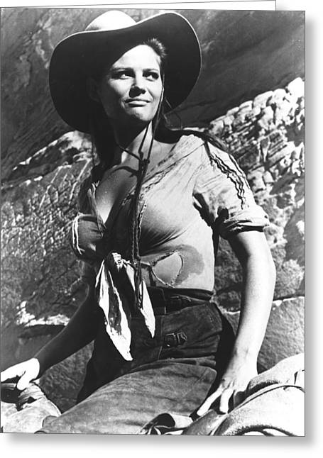 Claudia Cardinale In The Professionals Greeting Card