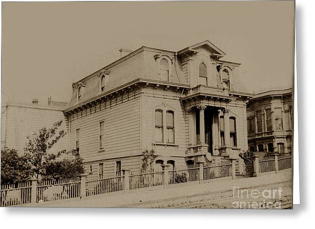 Clay And Hyde Street's San Francisco Built In 1874 Burned In The 1906 Fire Greeting Card