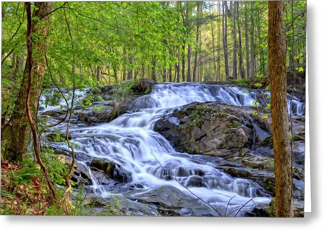 Clay Creek Falls Greeting Card