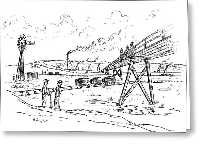 Clay Pit Greeting Card by Richard Bizley