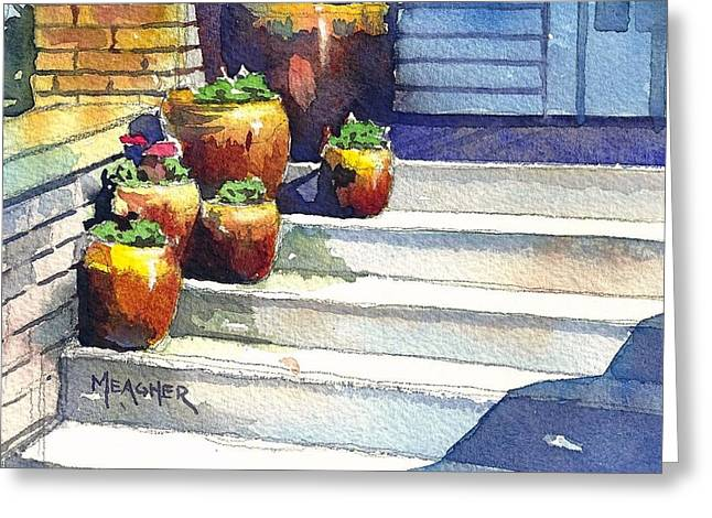 Clay Pots Greeting Card by Spencer Meagher