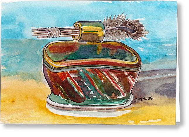 Greeting Card featuring the pastel Clay With Feathers by Julie Maas