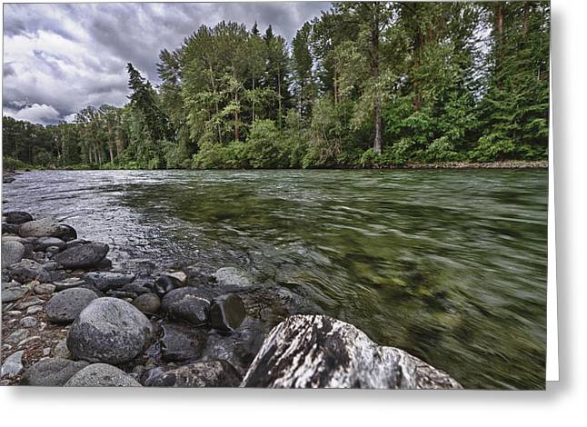 Cle Elum River Greeting Card