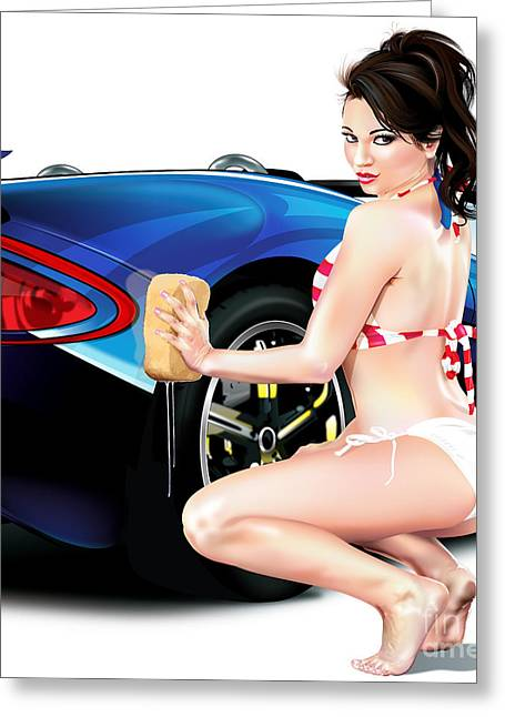 Clean Azz Greeting Card by Brian Gibbs