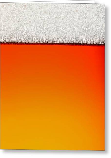 Clean Beer Background Greeting Card by Johan Swanepoel
