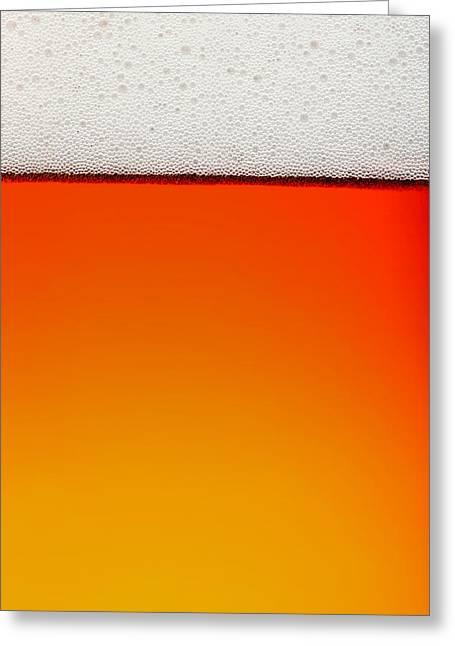 Clean Beer Background Greeting Card