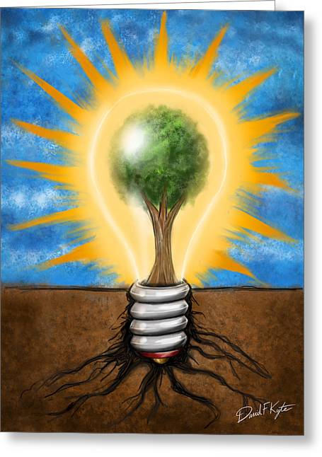 Clean Energy Greeting Card by David Kyte