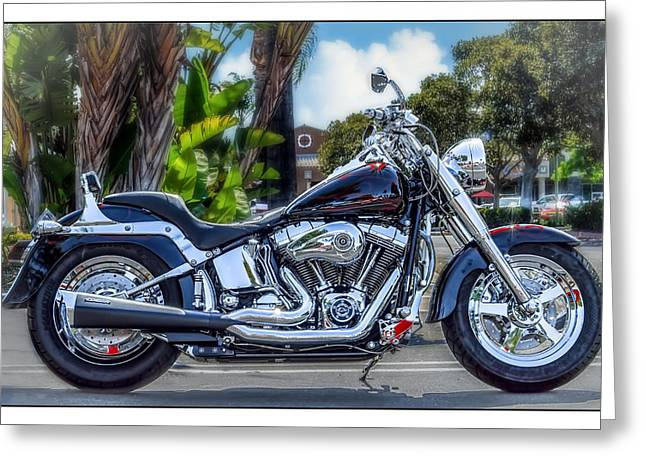 Greeting Card featuring the photograph Clean Looking Harley by Steve Benefiel
