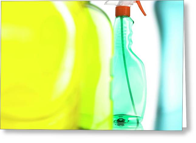 Cleaning Products Greeting Card by Science Photo Library