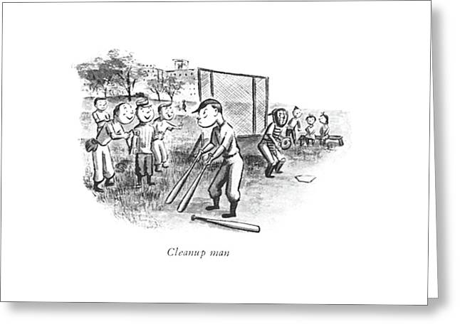 Cleanup Man Greeting Card