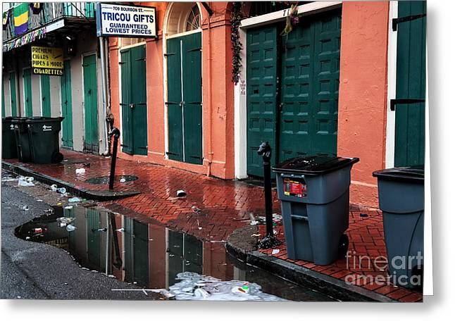 Cleanup On Bourbon Greeting Card