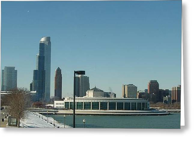 Greeting Card featuring the photograph Clear Cold Chicago Day by Teresa Schomig