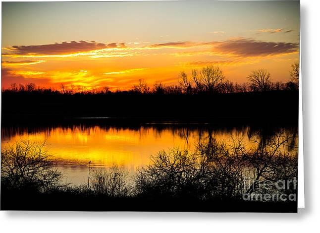 Clear Creek Sunrise Greeting Card