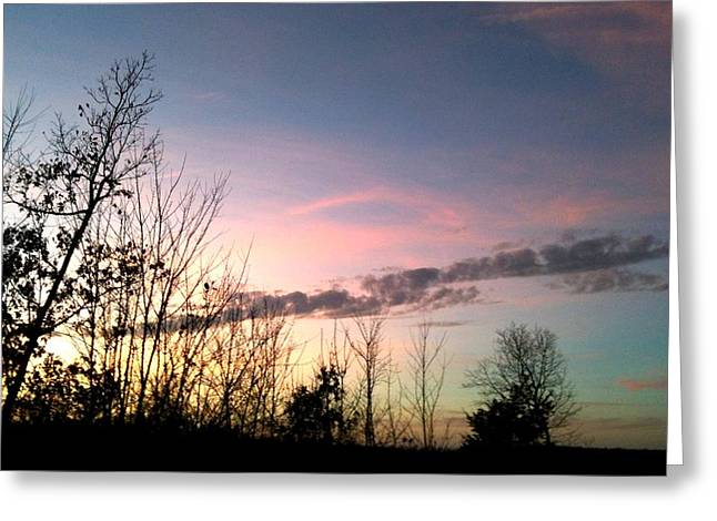 Greeting Card featuring the photograph Clear Evening Sky by Linda Bailey