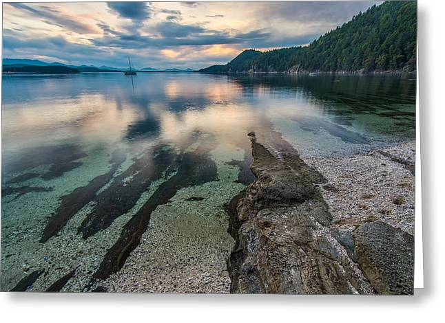Clear Harbour Greeting Card by James Wheeler