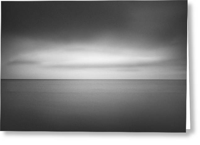 Clear Horizon Greeting Card by Ian Barber