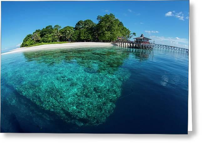 Clear Water Off Sipadan Island Greeting Card by Scubazoo