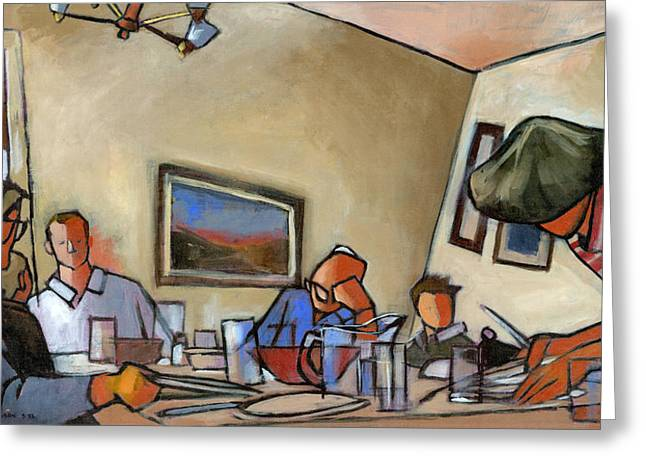 Clearing The Table Greeting Card by Douglas Simonson