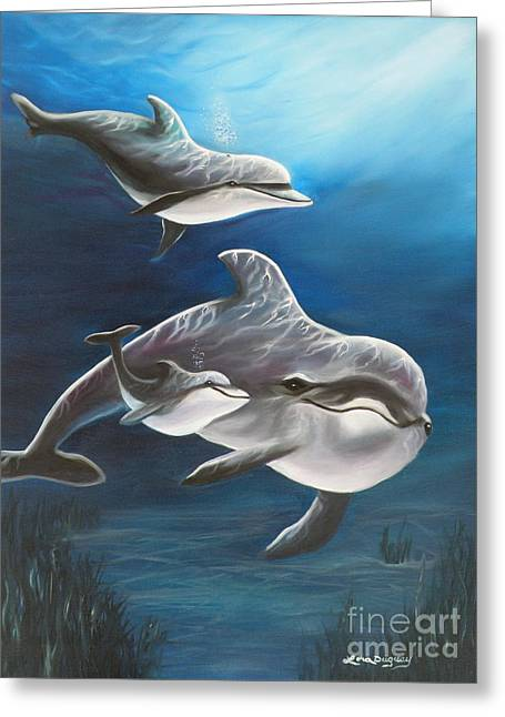 Clearwater Beach Dolphins Greeting Card