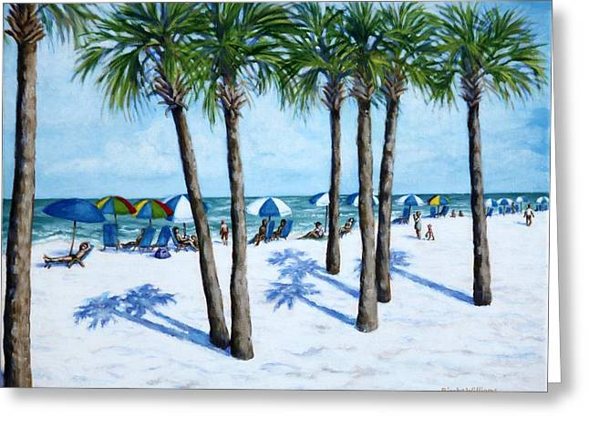 Clearwater Beach Morning Greeting Card by Penny Birch-Williams