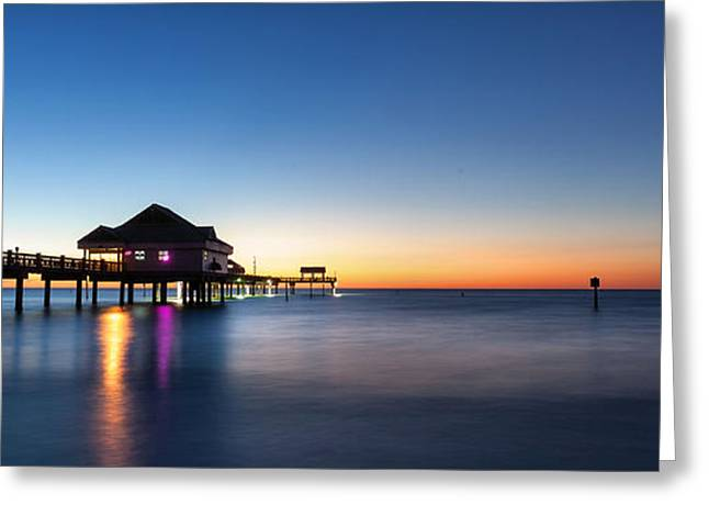 Clearwater Beach Pier Greeting Card by Steven Reed